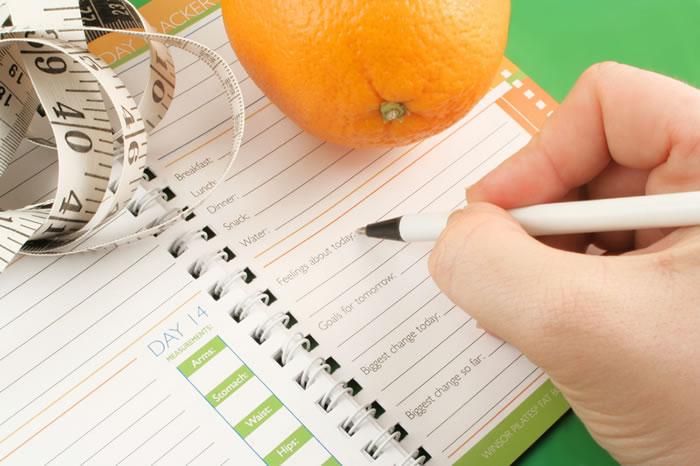 Keeping a weight loss journal